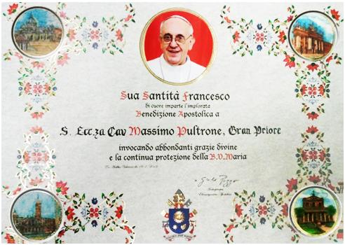 Benedizione Apostolica di Papa Bergoglio Francesco I